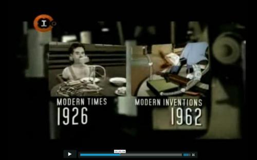 Una de los fragmentos del documental en el que se compara un corto de Donald con Tiempos modernos de Charles Chaplin